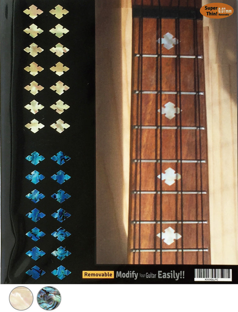 Slotted Diamonds - Fret Markers for Ukuleles - Inlay Stickers Jockomo