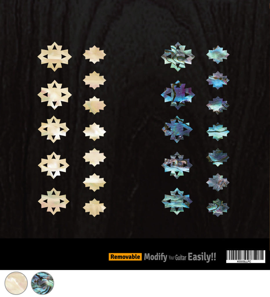 Cutted Diamonds - Fret Markers Inlay Stickers for Ukulele - Inlay Stickers Jockomo