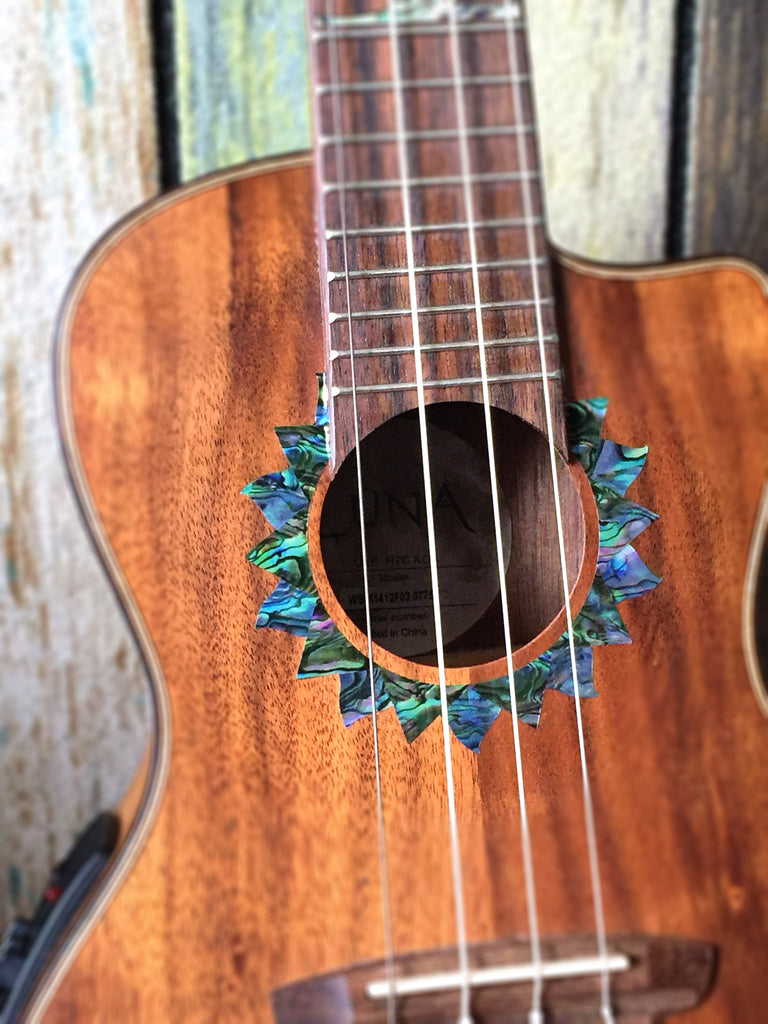 Sun (Abalone Blue) - Purfling for Ukuleles - Inlay Stickers Jockomo