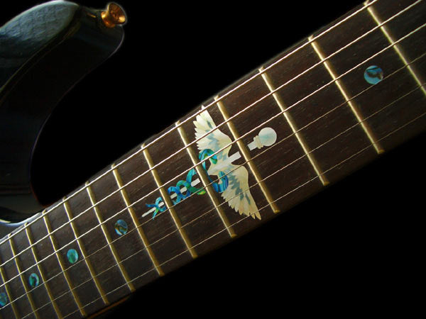 Caduceus (Snakes on a sword) - Fret Markers  Inlay Stickers Decals for Guitar - Inlay Stickers Jockomo