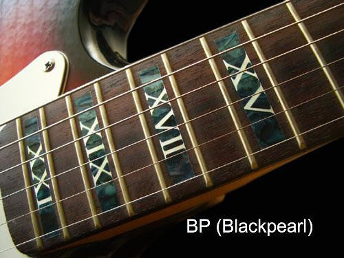 Roman Numeral Block Fret Markers Inlay Sticker Decal Guitar