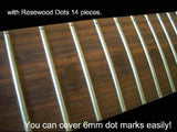 Shark-Fin Fret Markers with Rosewood Dots Inlay Sticker Decals Guitar