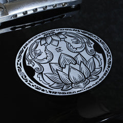 Buddhist Lotus(Carved Pattern Metallic) Inlay Stickers Decals