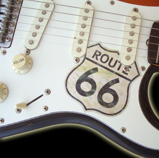 Route 66 (Pickguard Sticker) - Inlay Stickers Jockomo