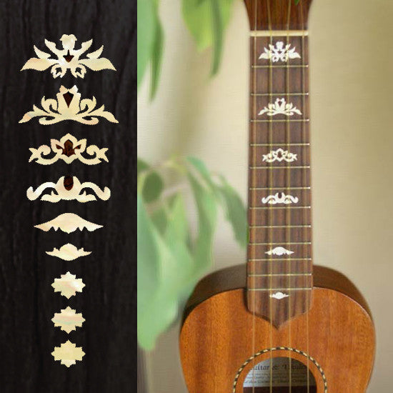 Ukulele Deluxe Fret Markers Inlay Stickers Decals