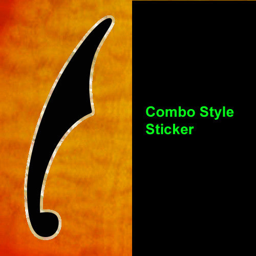 F-hole Combo style Inlay Stickers Decals
