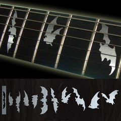 Bat Wing/Metallic Fret Markers Inlay Stickers Decals