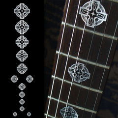 Celtic Cross (Metallic) Fret Markers Inlay Stickers Decals Guitar Bass - Inlay Stickers Jockomo