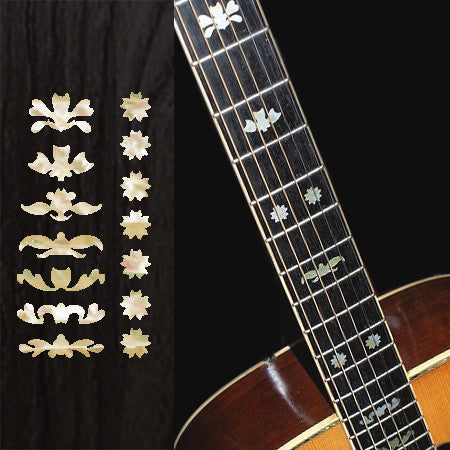 Deluxe#3 - Fret Markers for Guitars - Inlay Stickers Jockomo