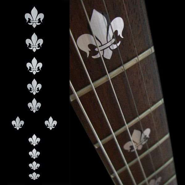 Fleur de Lys (Metallic Type) Fret Markers Inlay Stickers Decals Guitar
