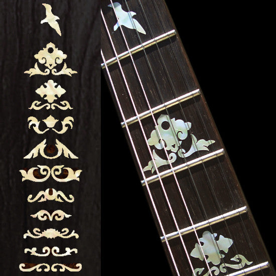 Jerry Garcia Wolf Fret Markers Inlay Stickers Decals Guitar - Inlay Stickers Jockomo