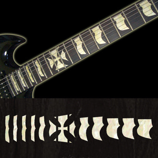 Hetfield (Metallica) Iron Cross - Fret Markers Inlay Stickers Decals for Guitars - Inlay Stickers Jockomo