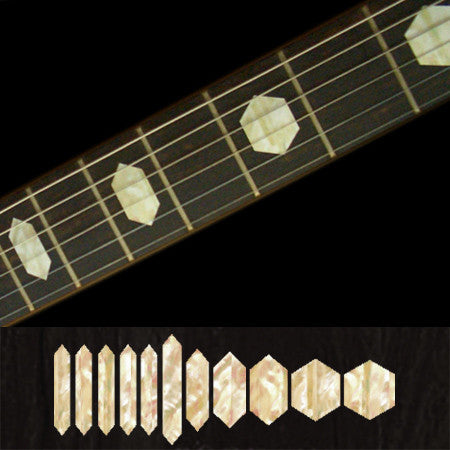 Hexagon Fret Markers Inlay Stickers Decals Guitar