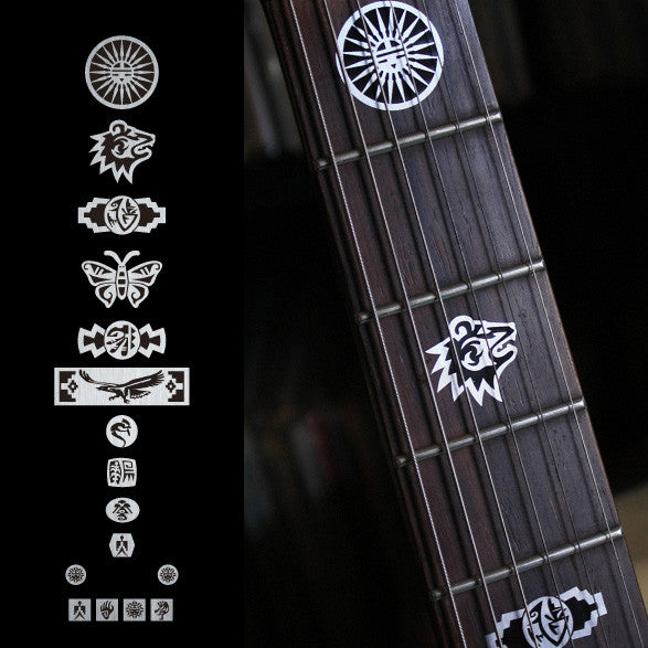 Hopi Symbol's Fret Markers Inlay Stickers Decals Guitar