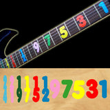 Jason Becker/Numeral Fret Markers Stickers Decals Guitar