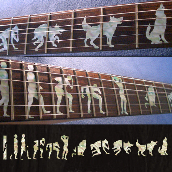 Man To Wolf / Werewolf James Hetfield (Metallica) - Fret Markers Inlay Stickers for Guitars - Inlay Stickers Jockomo
