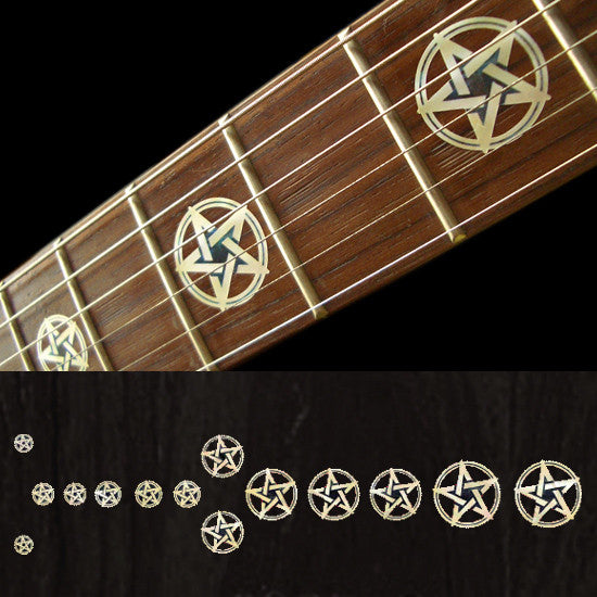 Pentagram Pentacle / Kevin Bond Fret Markers Inlay Sticker