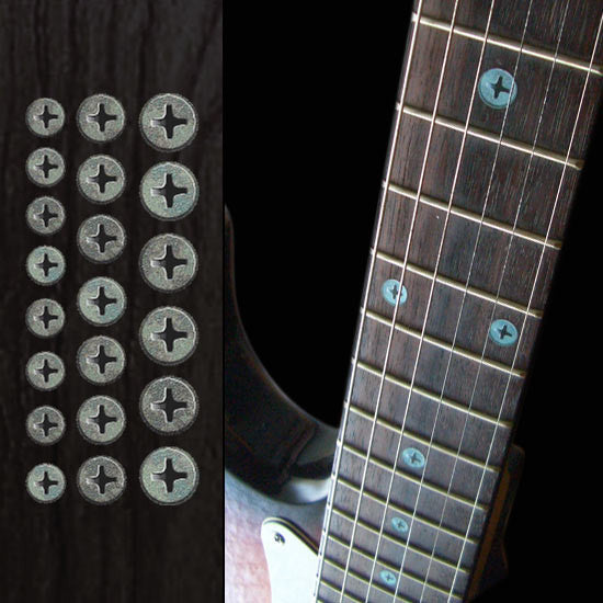 Rusty Screws - Fret Markers  Inlay Sticker for Guitars & Bass - Inlay Stickers Jockomo