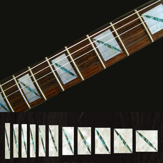 Split Block Fret Markers Inlay stickers Decals Guitar