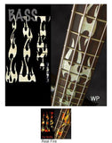 FIRE FLAMES/For BASS Fret Markers Inlay Stickers Decals