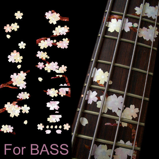 Cherry Blossom Tree / Sakura - Fret Markers for Bass - Inlay Stickers Jockomo