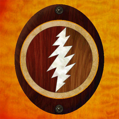 Jerry Garcia / Lightning Bolt Inlay Stickers Decals Grateful Dead