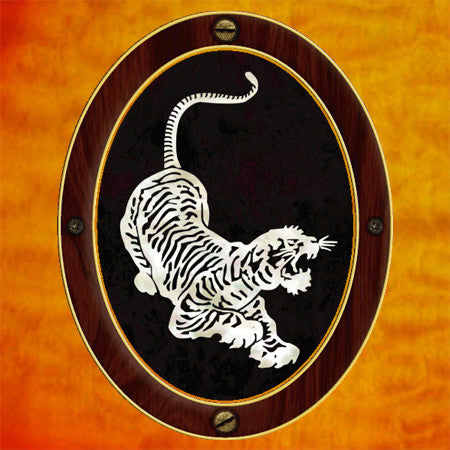 Jerry Garcia / Tiger Inlay Stickers Decals Guitar Bass
