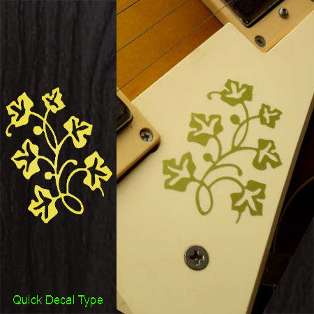 Gold Flower Inlay Stickers Decals Guitar Pickguard