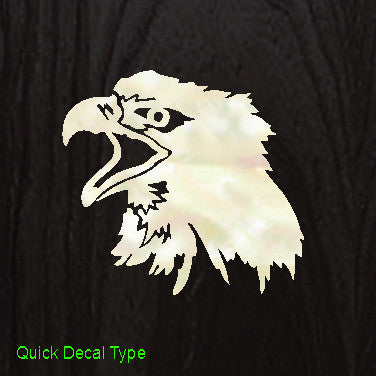 Eagle's Head Inlay Stickers Decals Headstock