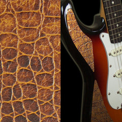 Faux-Leather Sticker /Crocodile Skin (Brown)