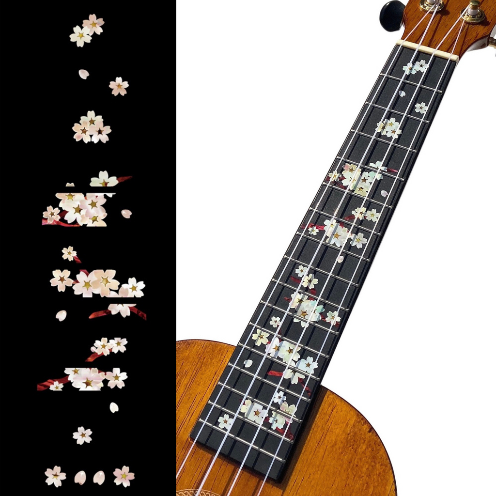 Water Lilies - Head & Neck Inlay Stickers for Acoustic Guitar