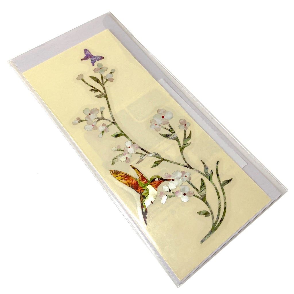 In The Garden (Flowers, Hummingbird & Butterfly) - Inlay Stickers Jockomo