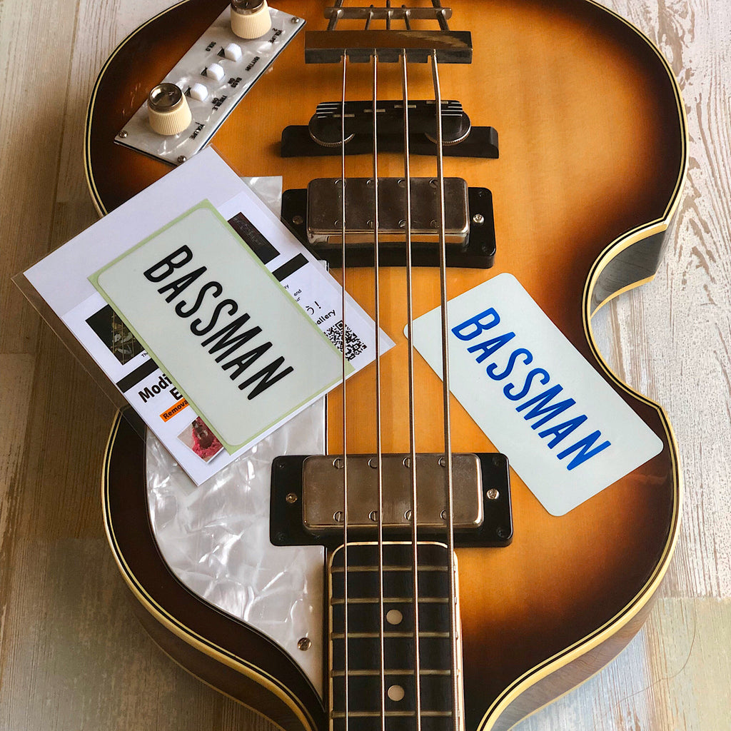 Bassman / Paul McCartney - Inlay Stickers Jockomo