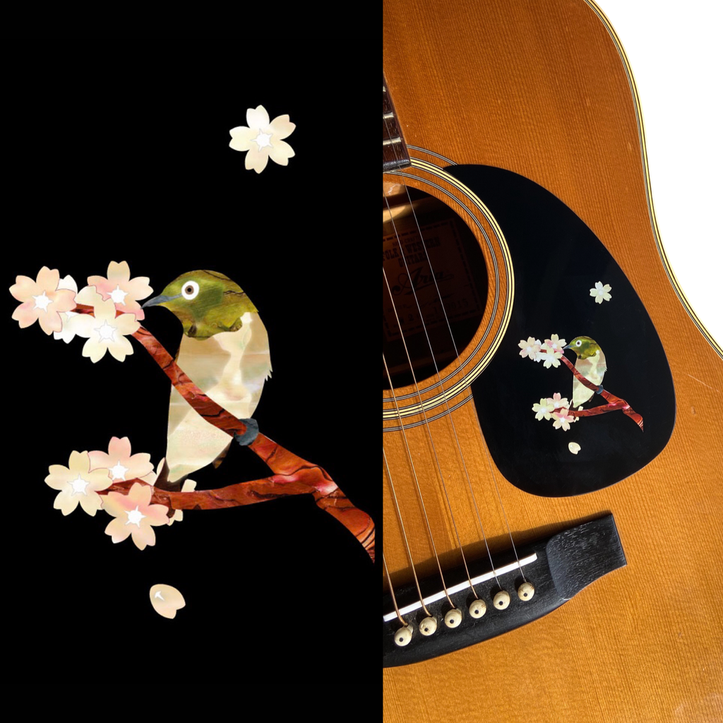 Japanese Bush Warbler - Inlay Stickers Jockomo