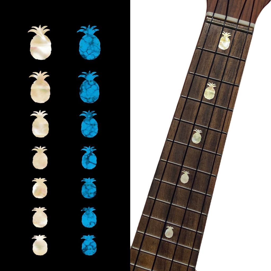 Pineapples - Fret Markers for Ukuleles - Inlay Stickers Jockomo