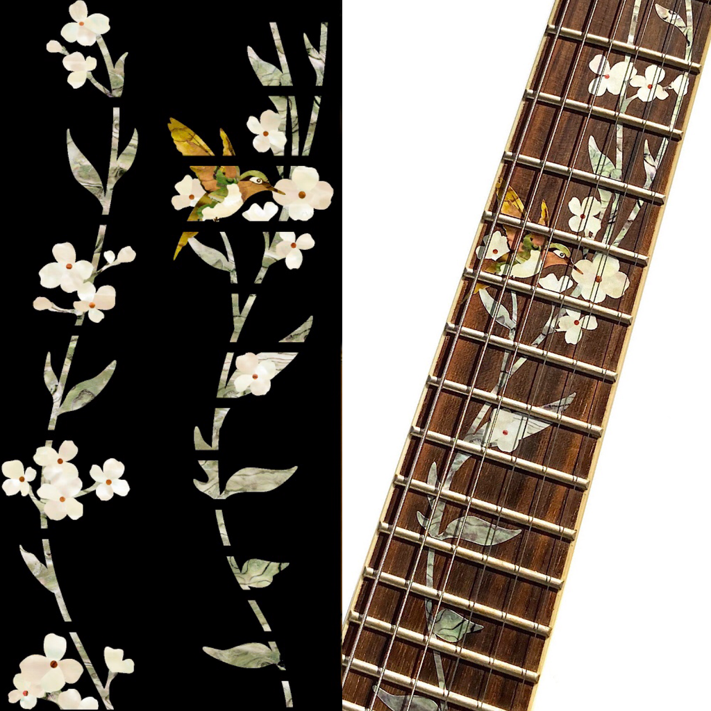 Tree Of Life w/Hummingbird - Fret Markers for Guitars - Inlay Stickers Jockomo