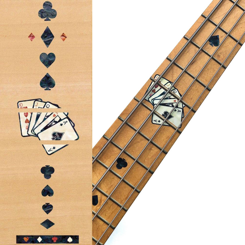 Playing Cards - Fret Markers for Bass