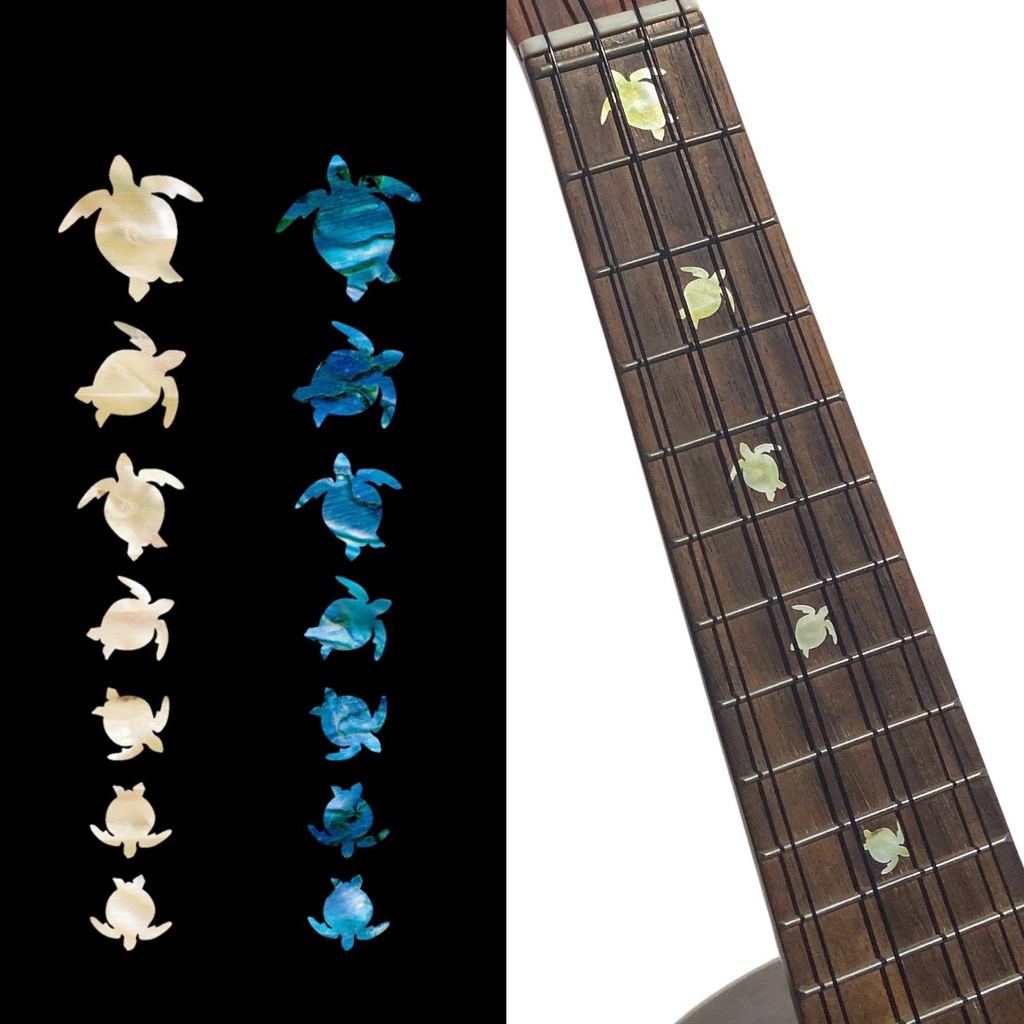Turtles / Honus - Fret Markers for Ukuleles - Inlay Stickers Jockomo