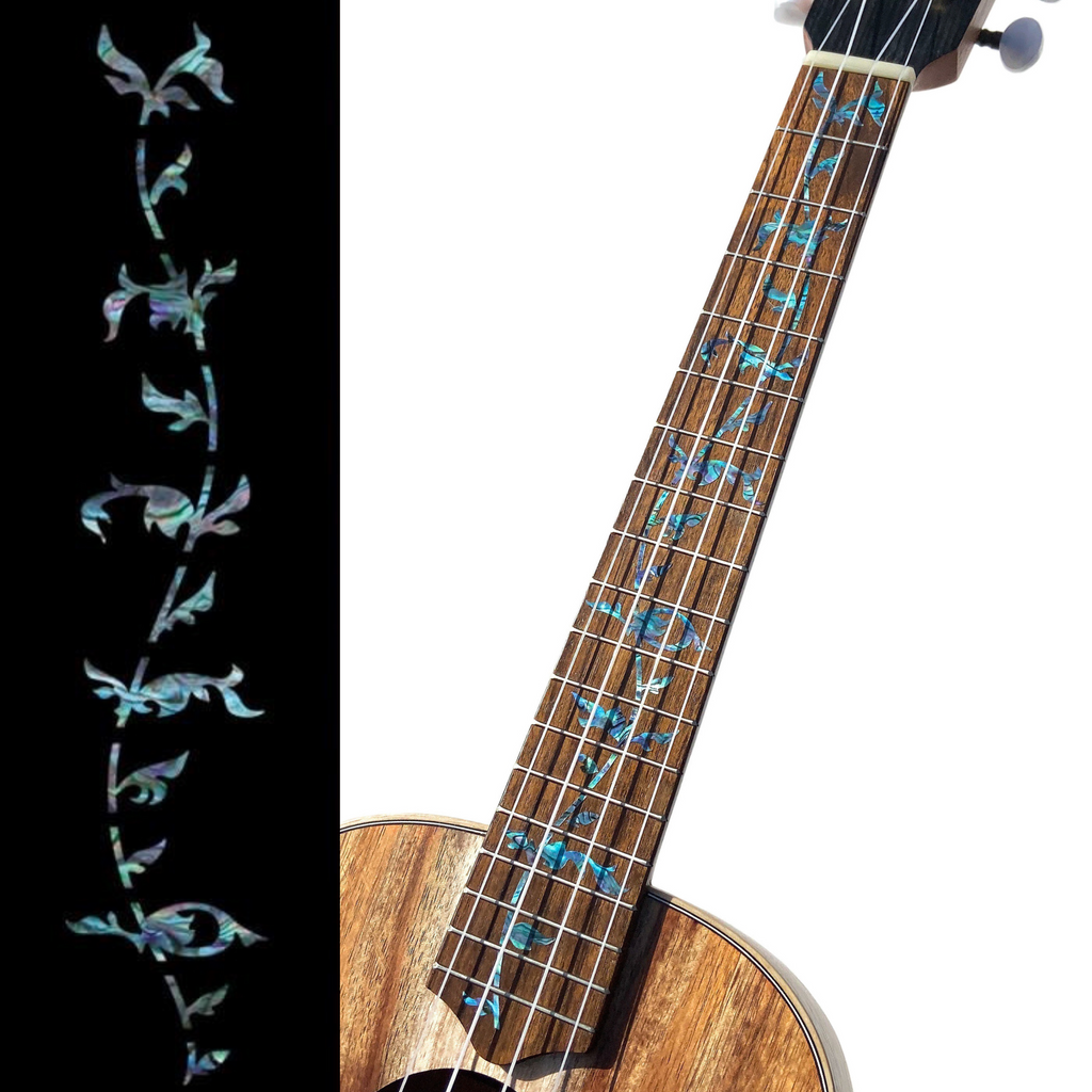 Tree of Life (Abalone Blue) - Fret Markers for Ukuleles