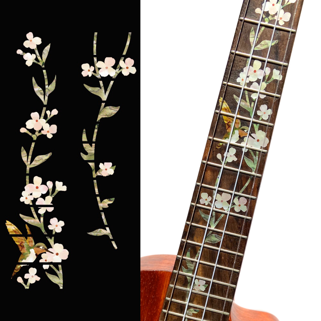 Tree of Life w/Hummingbird - Fret Markers for Ukuleles - Inlay Stickers Jockomo