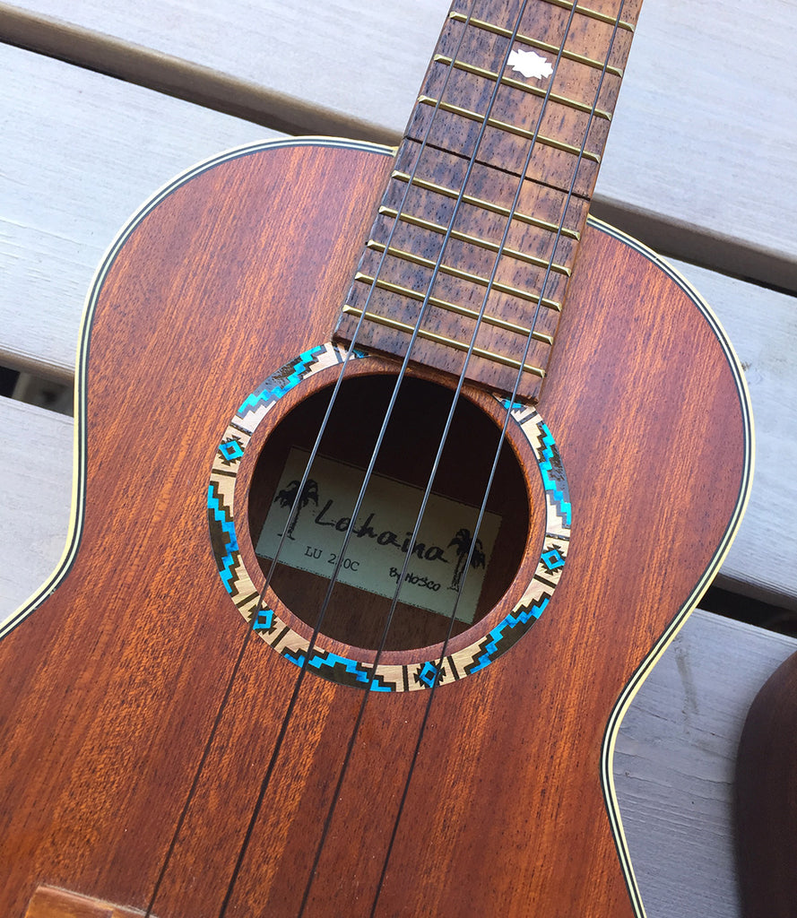 Ukulele Native American Style Ethnic Pattern Purfling (Natural) Sound hole Inlay Sticker Decal - Inlay Stickers Jockomo