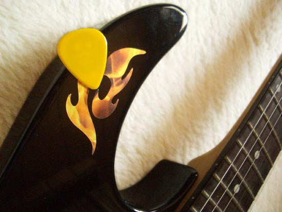 "Picks On Stickers ""Pick Holder"" Fire 2sheets/pack - Inlay Stickers Jockomo"