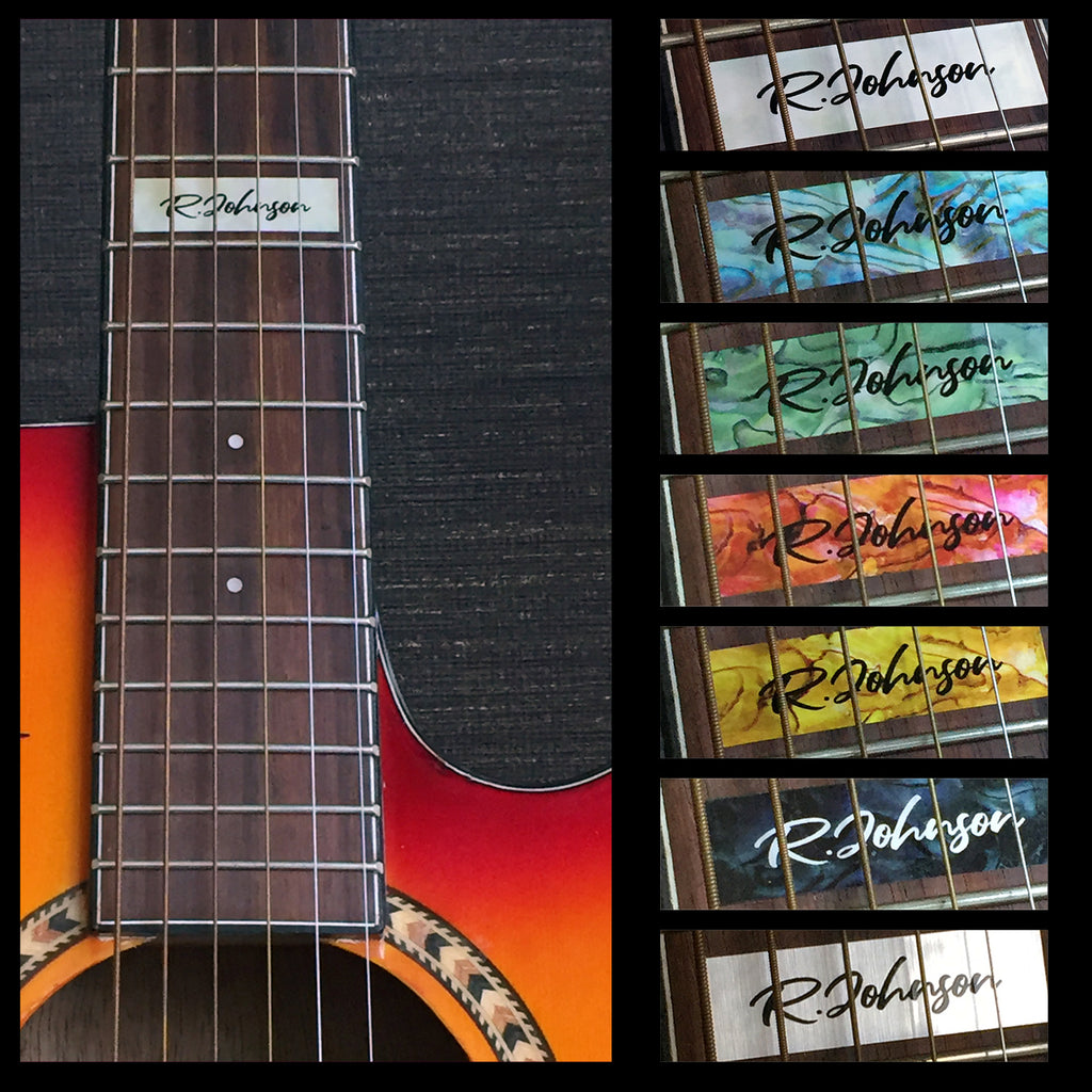 Custom-Made 12th Fret Marker for Guitars - Inlay Stickers Jockomo