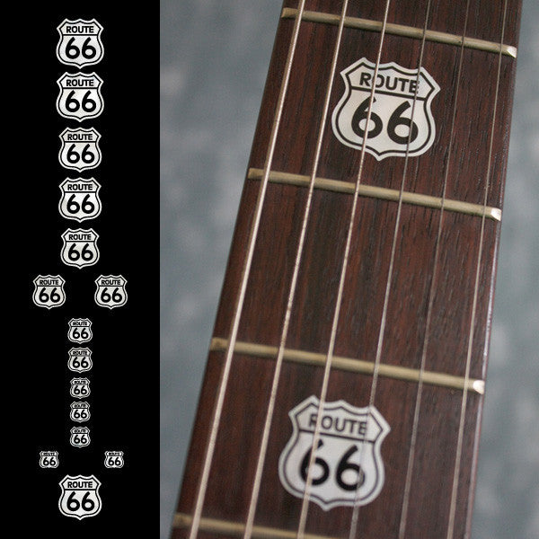Route 66 - Fret Markers for Guitars & Bass - Inlay Stickers Jockomo