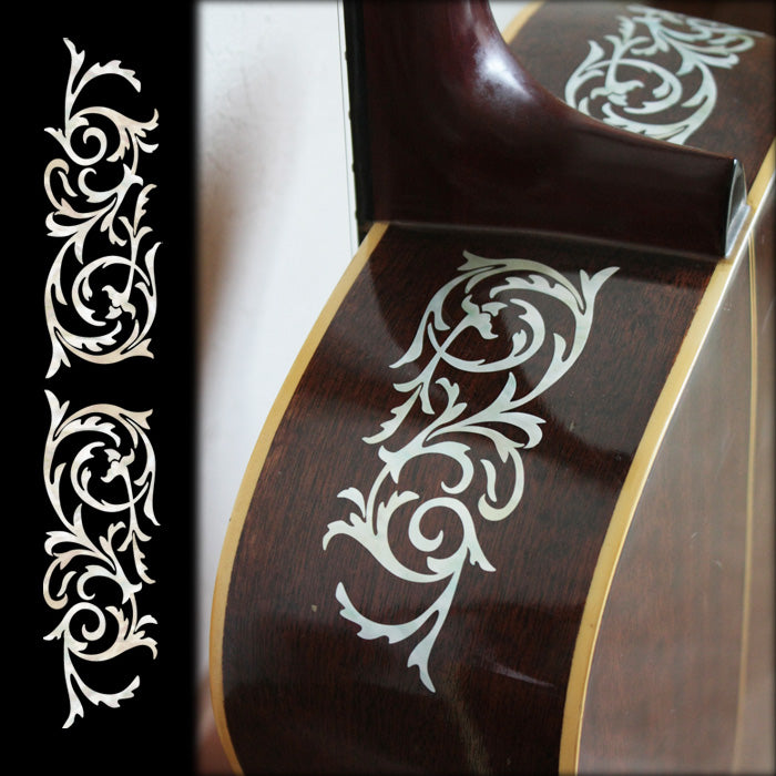 L&R Ornamental Swirl Inlay Stickers