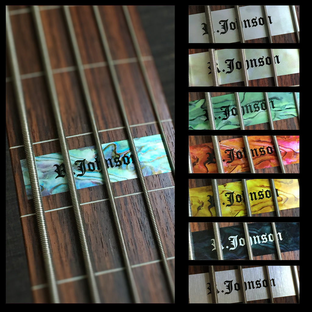 Custom-Made 12th Fret Marker For 5strings-BASS - Inlay Stickers Jockomo