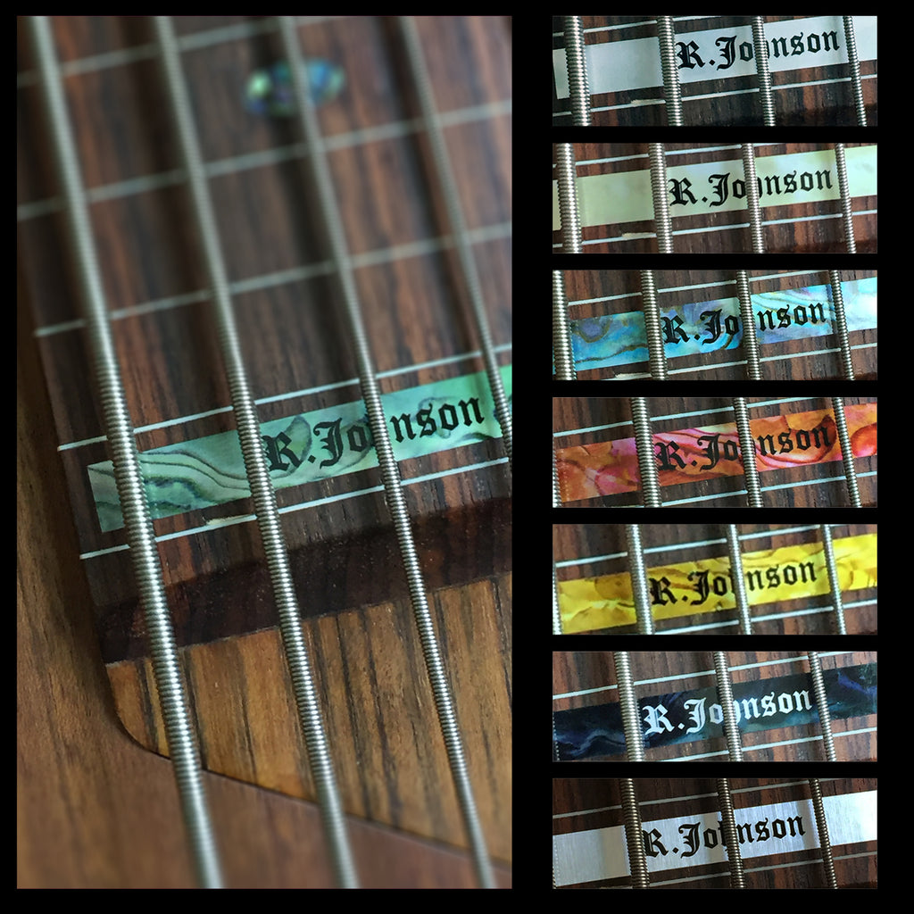 Custom-Made High Position Fret Marker for 5-String Bass - Inlay Stickers Jockomo