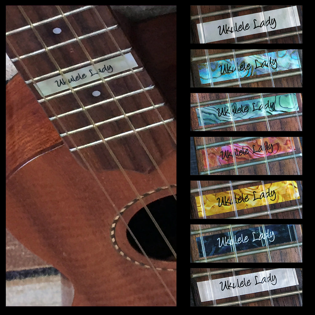 Custom-Made 10th Fret Marker for Ukuleles - Inlay Stickers Jockomo