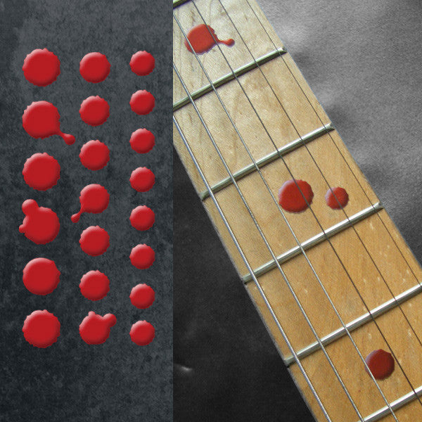 Bloody Dot Fret Markers - Inlay Stickers Jockomo