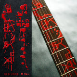 Bloody-Line Fret Markers Inlay Stickers Decals Guitar